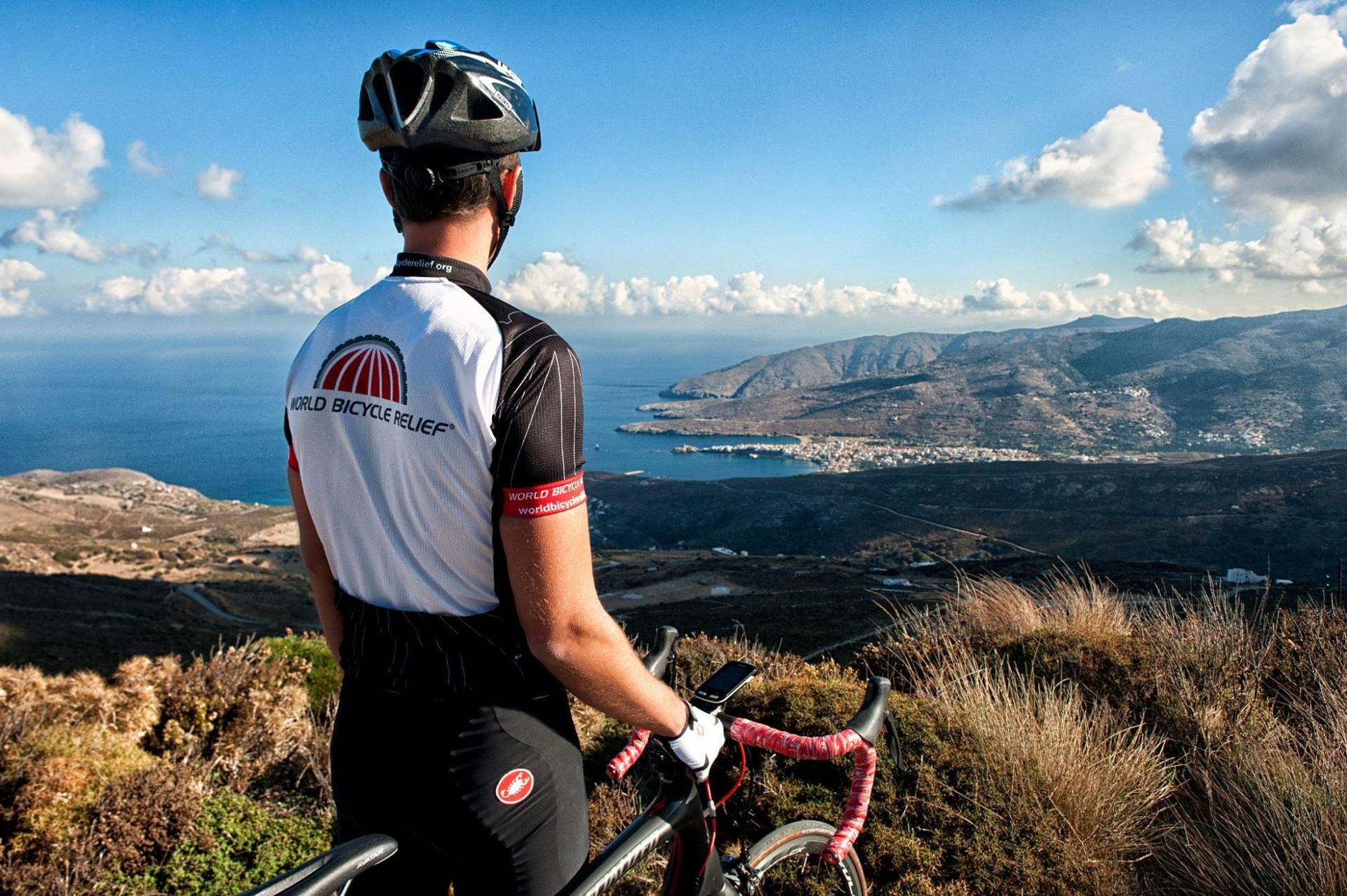 Cycling Andros Island - Panoramic view of Chora