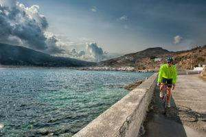 Cycling in Andros - Corthi Bay