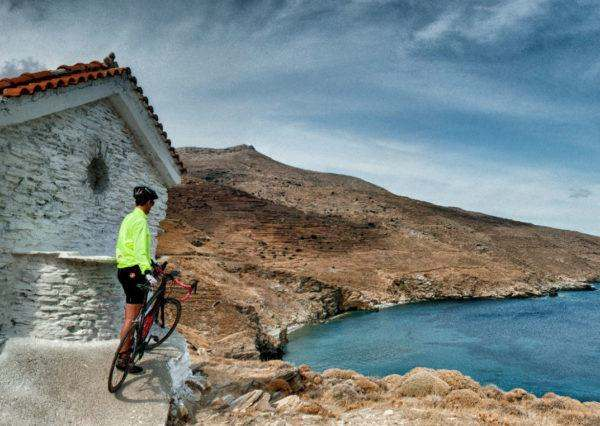 Cycling, Resting and Panoramic Views in Andros Island