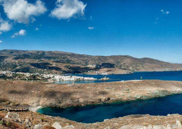 Panoramic View of Chora of Andros
