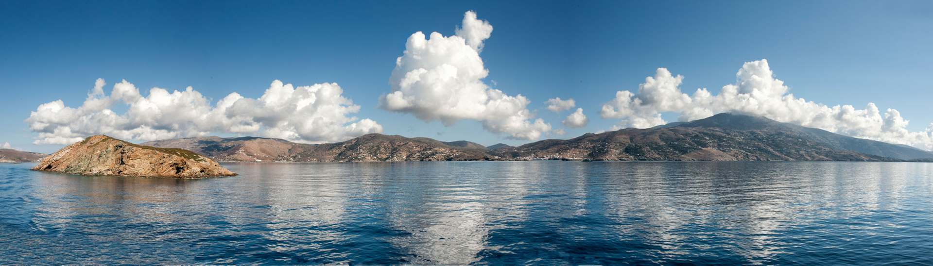 View from our on board briefing on our way to Tinos
