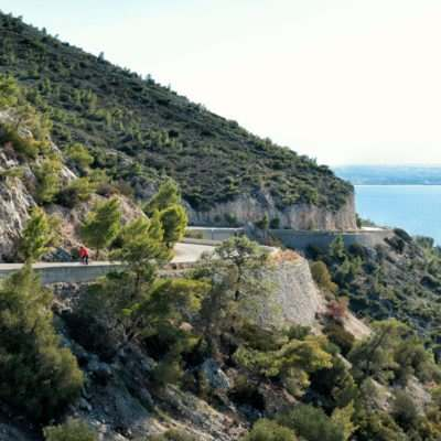 Cycling in near Loutraki with an amazing view!