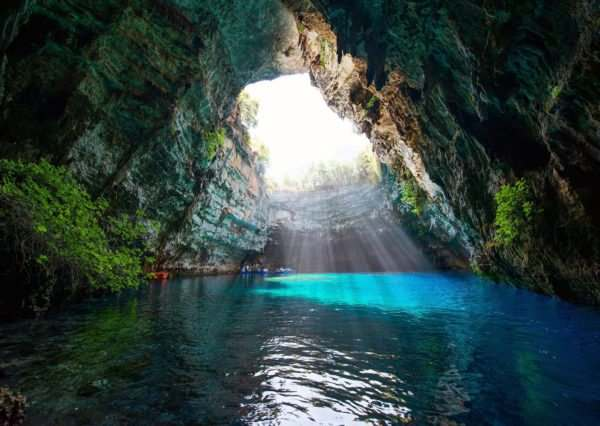 Cycling in Kefalonia - Melissani Cave - Discover the best riding Greece can offer - GrCycling