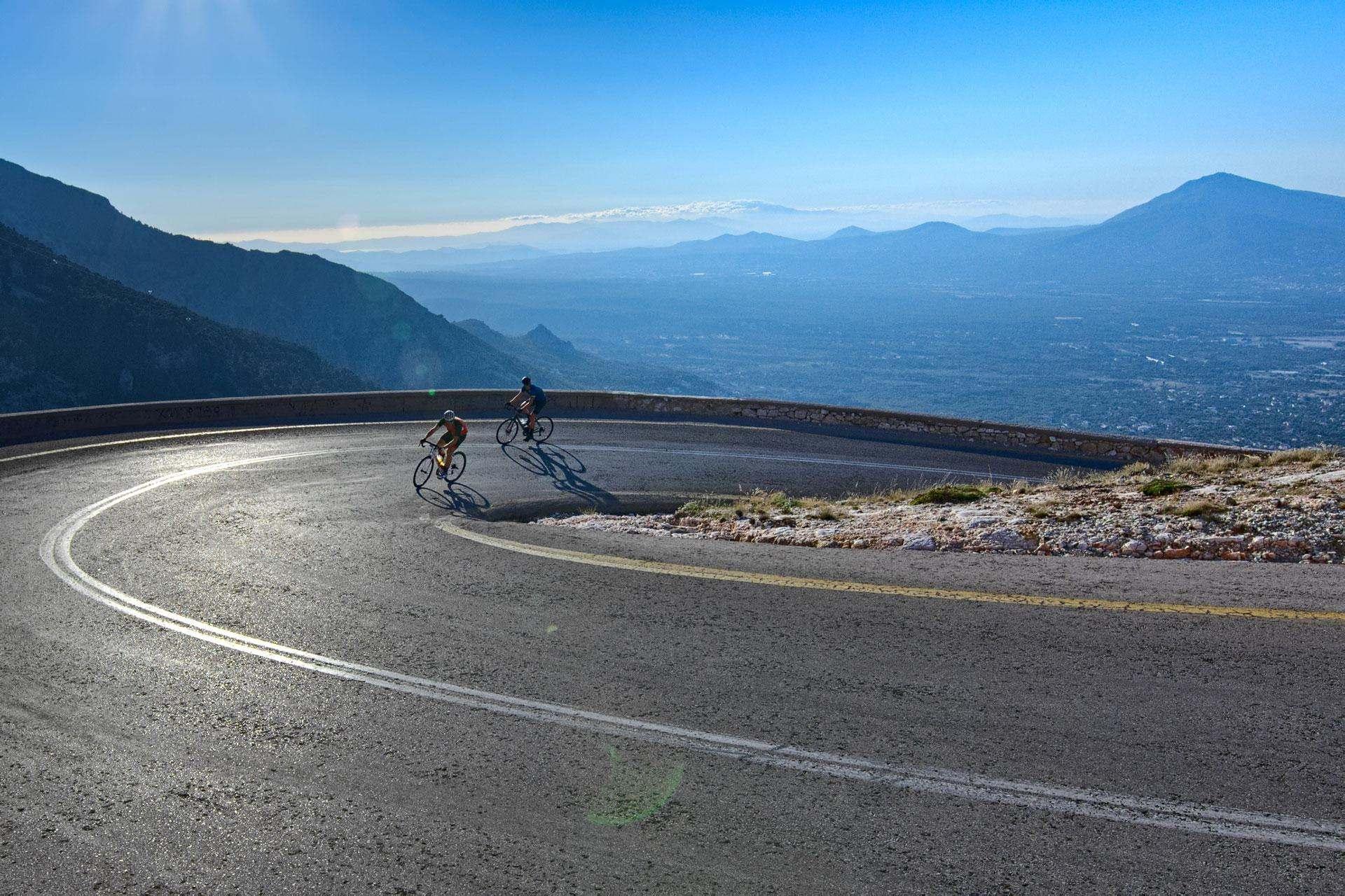 Road Cycling in Athens - Climbing mountain Parnitha - Gr Cycling