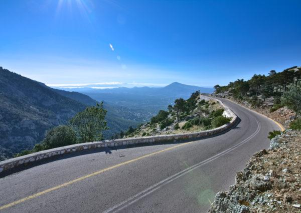 The spectacular views along the climb makes cycling on Mt. Parnitha on of the most scenic rides - Road cycling in Athens by GrCycling