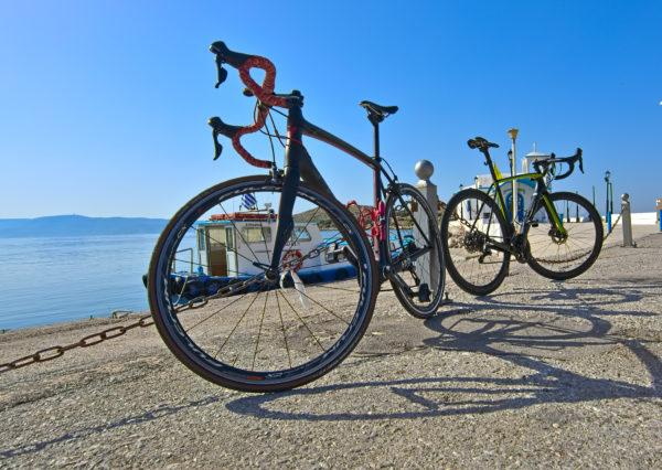 There is where we begin out rides. The amazing sea village of Pachi - Road Cycling in Athens by GrCycling