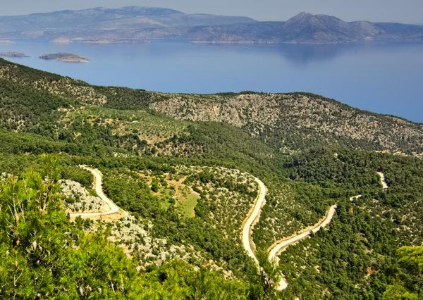 Reaching the highest point the road can go in mt. Gerania, close to Vouliagmeni Lagoon - Road Cycling in Athens by GrCycling