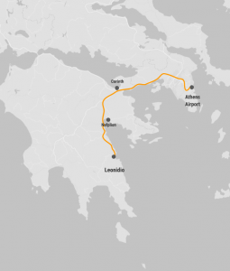 Find information from Athens Airport to Leonidio